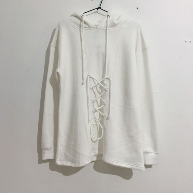 Missguided Lace Up Hoodie