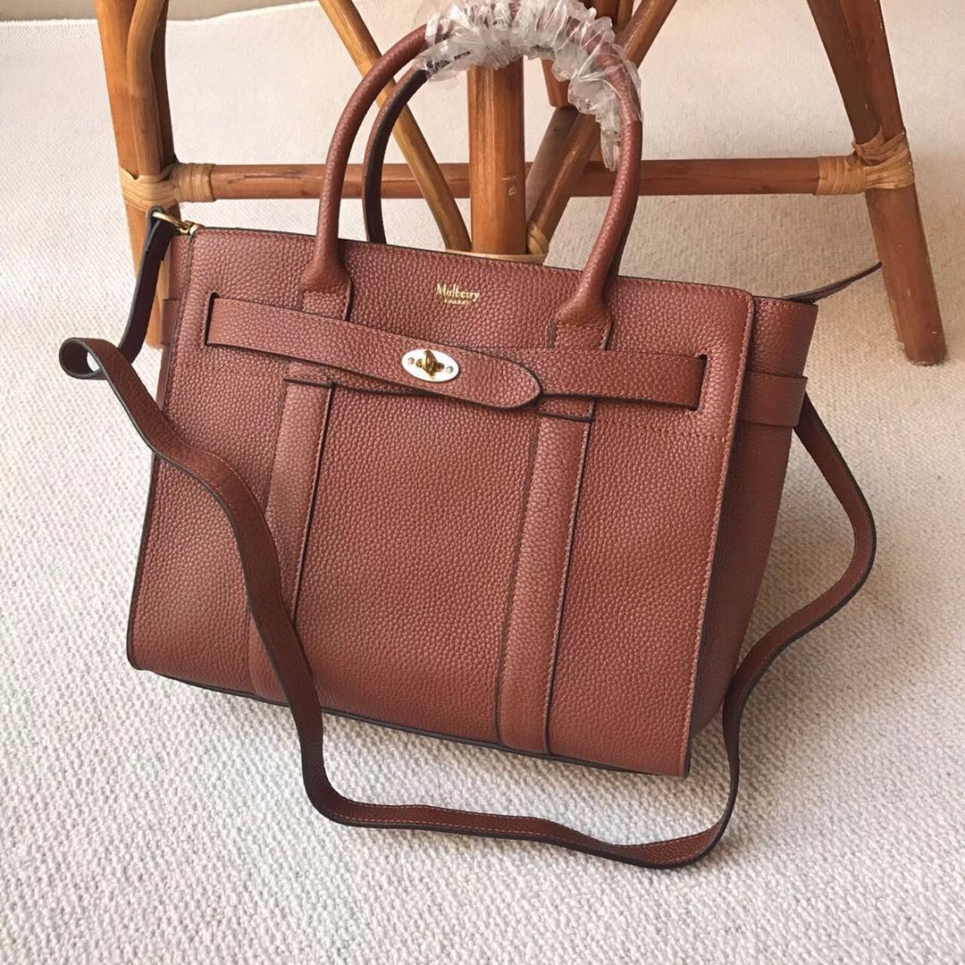 7e3213a565 Mulberry Leather Bayswater Handbag Brown