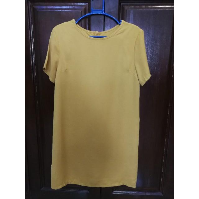 Mustard yellow Zalora shift dress