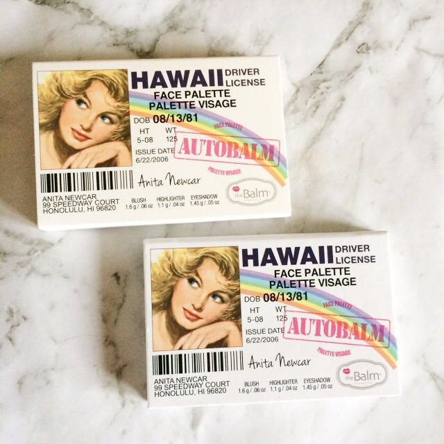 NEW theBalm Hawaii face palette