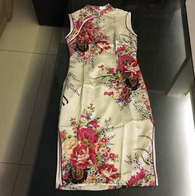 No sleeve chinese dress