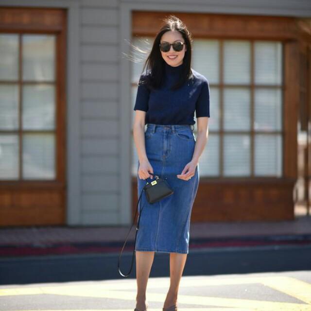Nyabar rok jeans 7/8 seperti pict