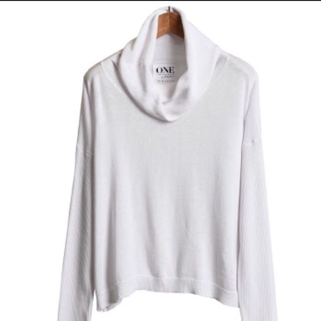 🌿☀️One Teaspoon Knoxville Raw Silk Arctic Roll Neck Knit