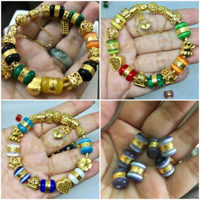 e93463e95b1af Pandora charm beads emas 916