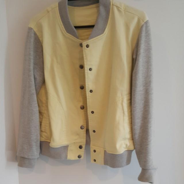 Pastel Yellow Japanese Bomber Jacket