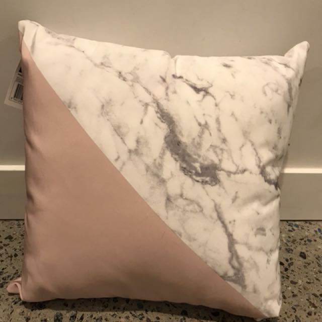 Pink and marble cushion