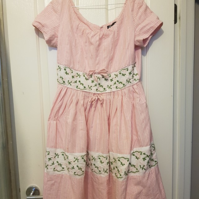 Pink and white Revival Dress
