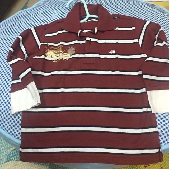 Preloved crocodile shirt tangan panjang no.3