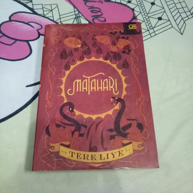 "Preloved Novel ""MATAHARI"" Tere Liye"