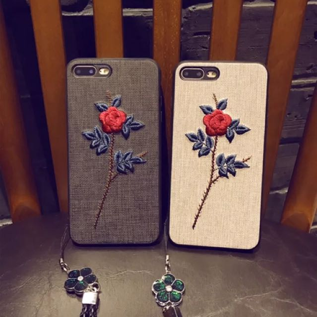 wholesale dealer 6ca9d 96601 *Preorder* Embroidered Rose iphone Case/cover
