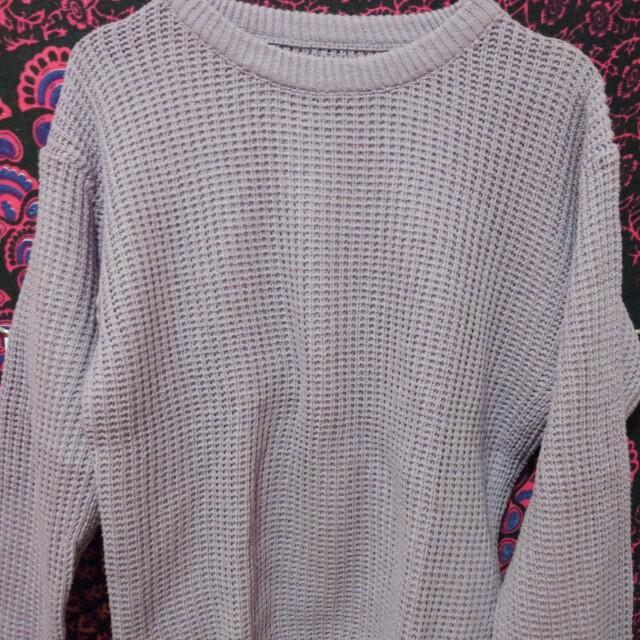 Purple loose sweater
