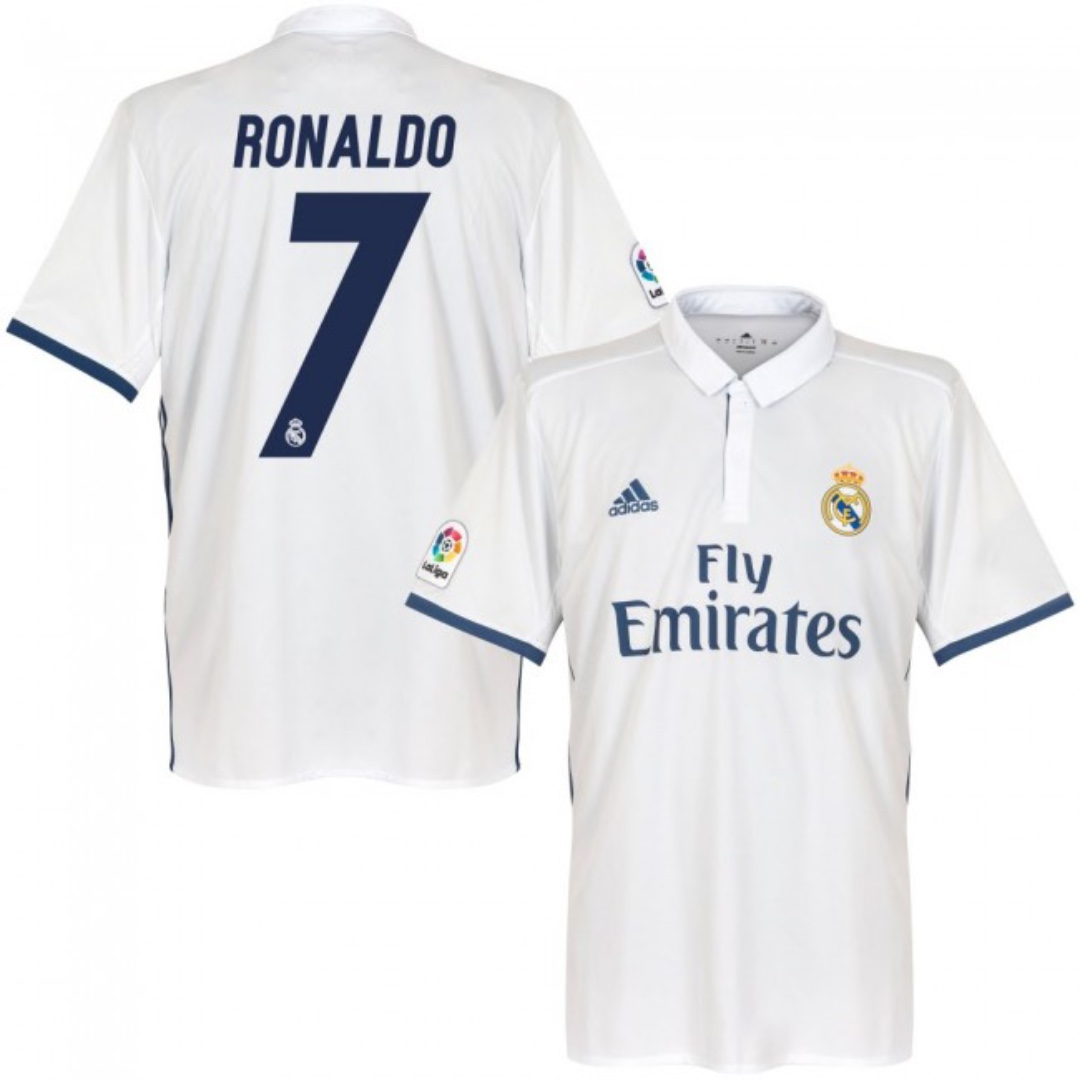 buy online ba47e dbf1f Real Madrid 16/17 Original Home Kit Ronaldo 7