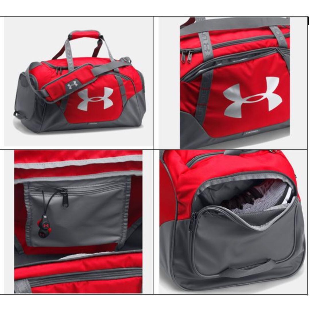 960d4b0d8e40 BN Under Armour Undeniable 3.0 Red Small Duffle Bag Original ...