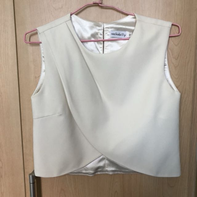 Rockstar white sleeveless blouse top