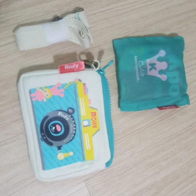 正版rody  零錢包附袋子環保購物袋