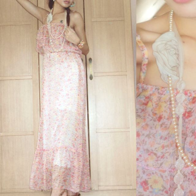 Romantic Floral Maxi Dress