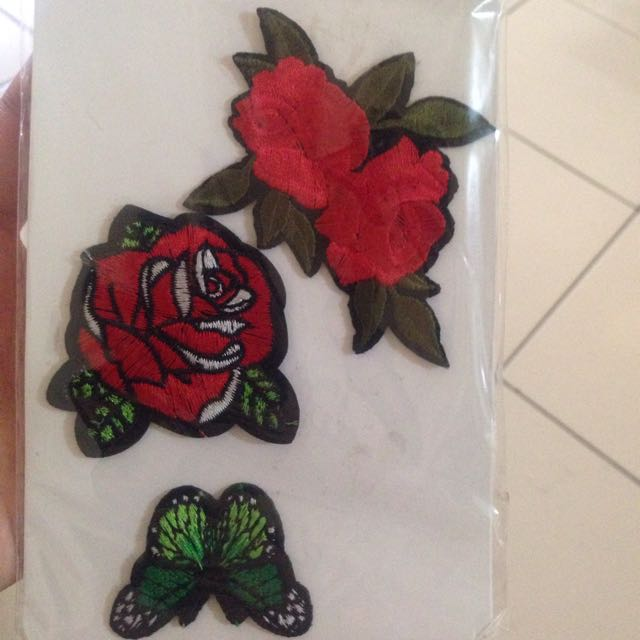 Rose 🌹 and butterfly 🦋 patch
