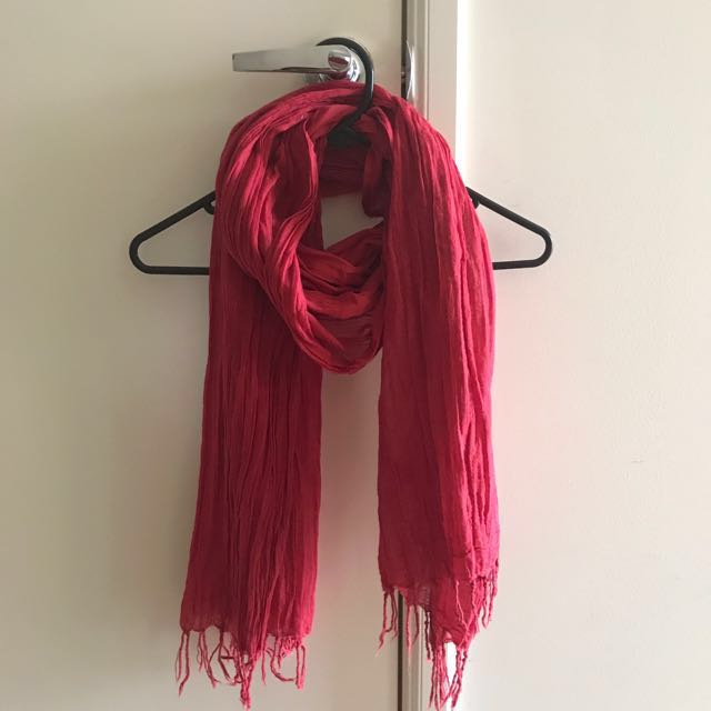 Rubi Shoes Red Lightweight Scarf