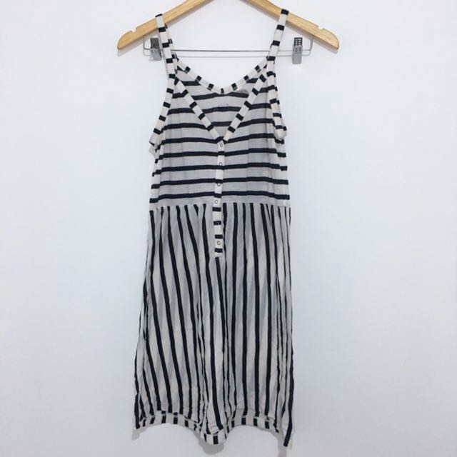 Rvca Striped Cover Up Dress