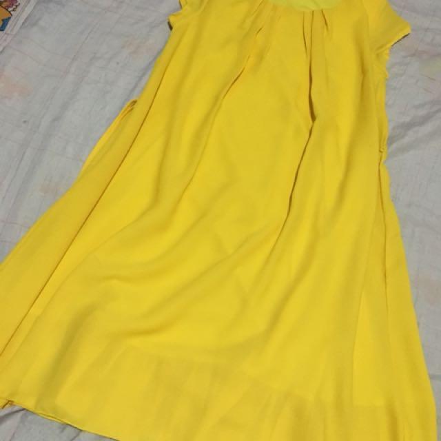 Semi formal bright yellow dress