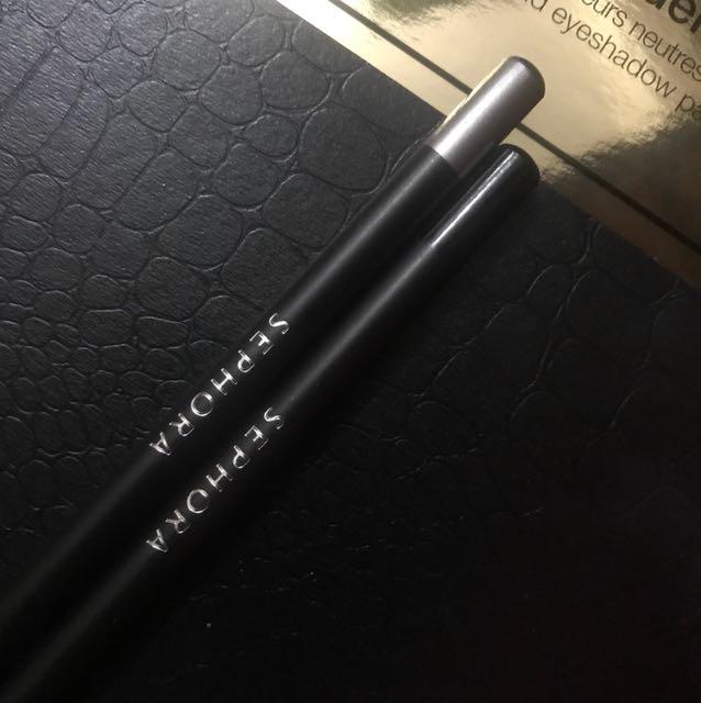 Sephora Pencil Eyeliner Black and Silver
