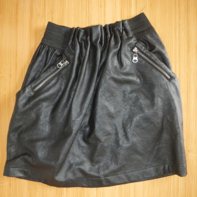 Size S Faux Leather Skirt