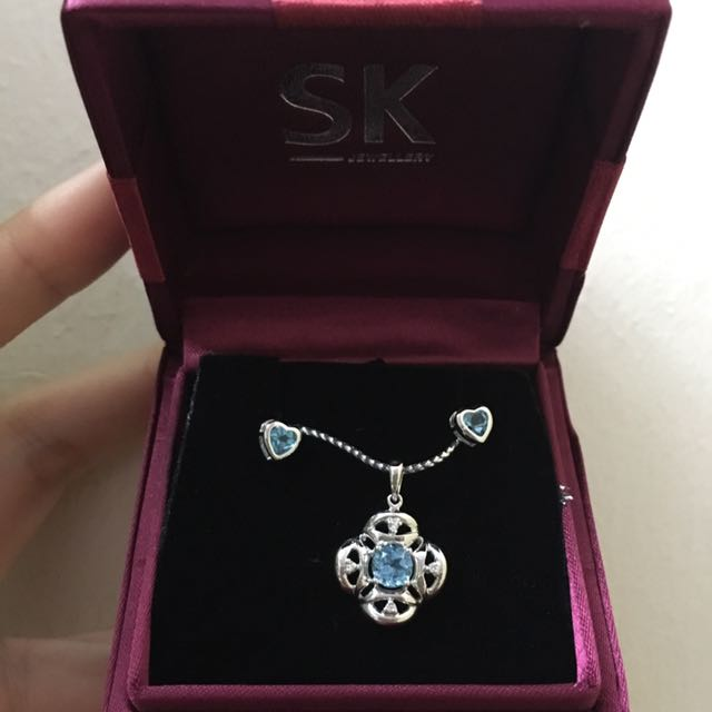 SK Jewellery authentic earring and pendant set
