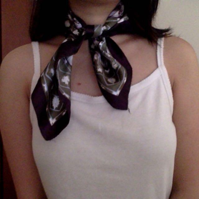 Small square silk scarf