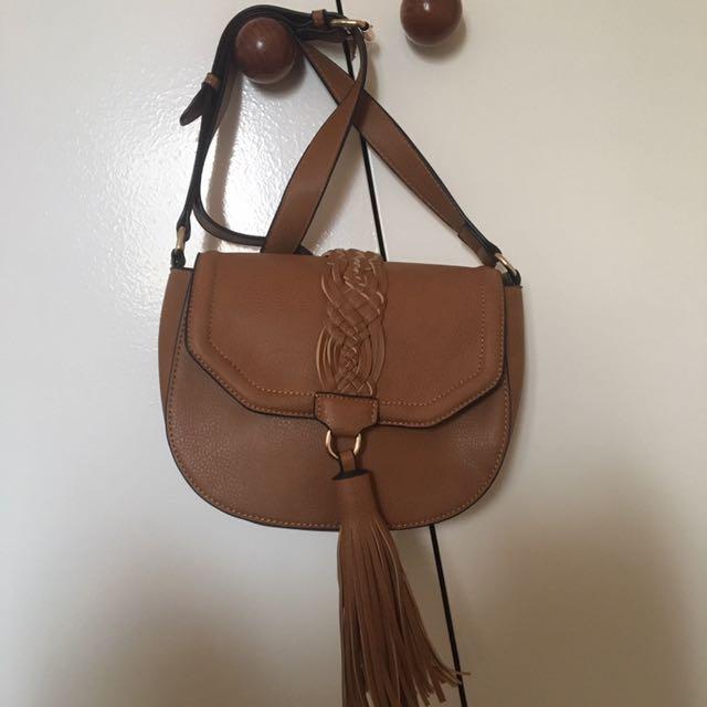 Sportsgirl suede handbag