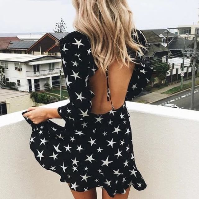 Star pattern dress