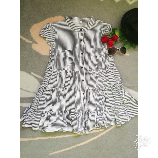 Stripped Dress (small-semimedium)
