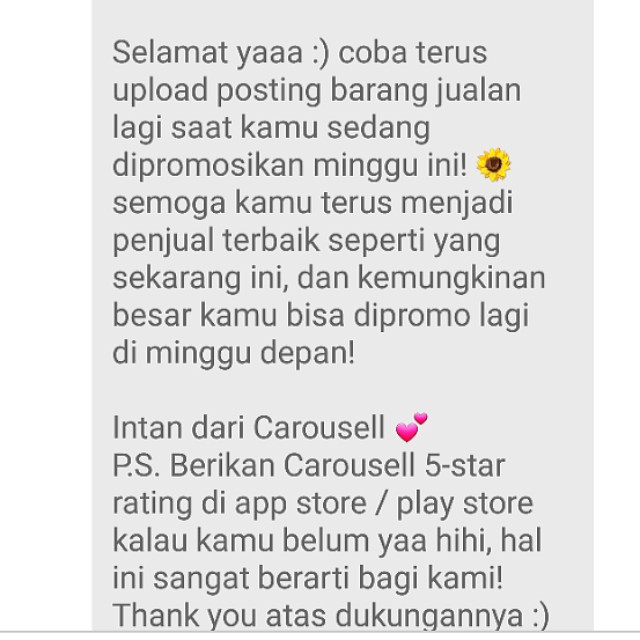 *6th time* Thank You Carousell 🎉