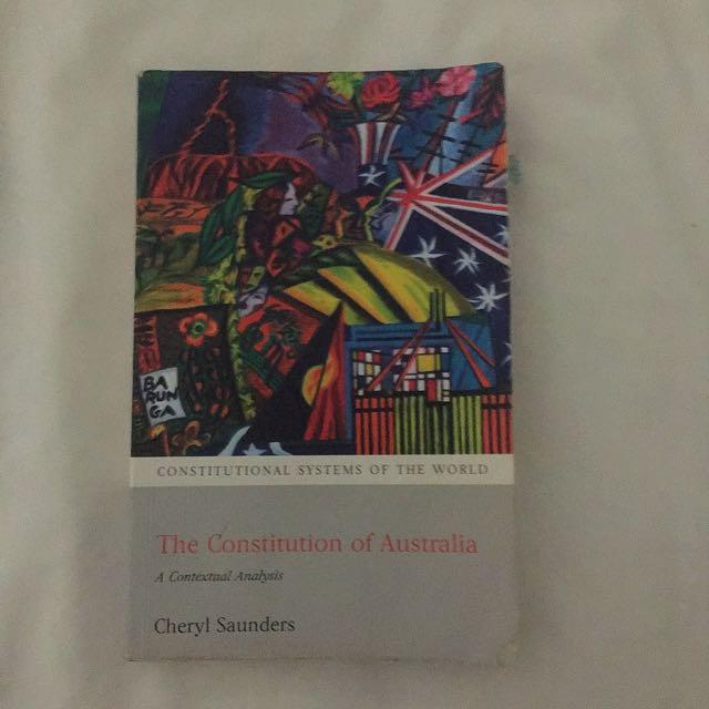 The Constitution Of australia Cheryl Saunders