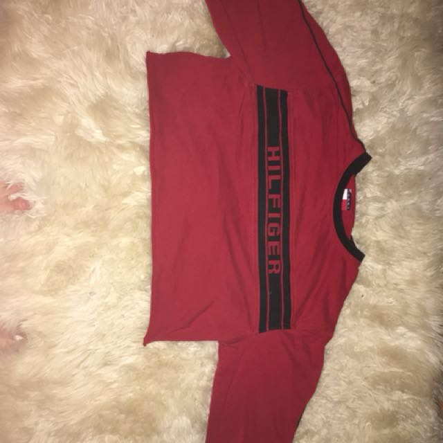 Tommy Hilfiger long sleeve red shirt