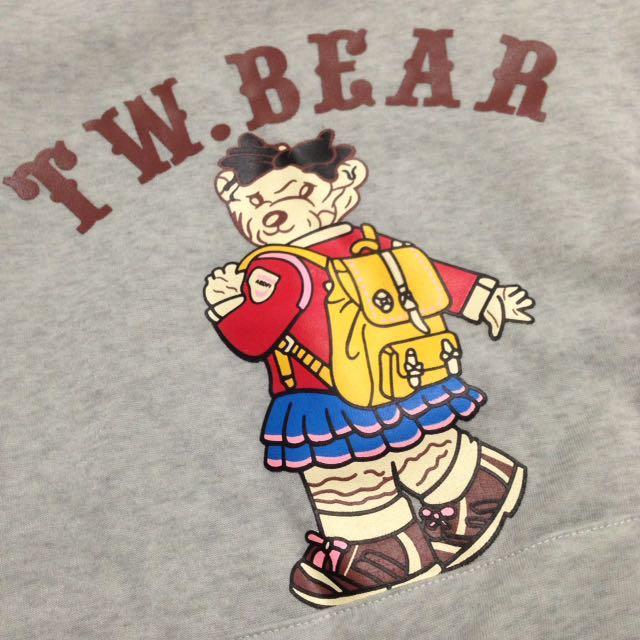 T.W BEAR 灰灰連帽T