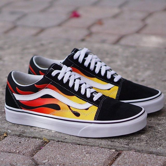 flame vans old skool