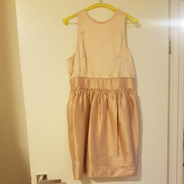 Wayne Cooper light peach dress sz3