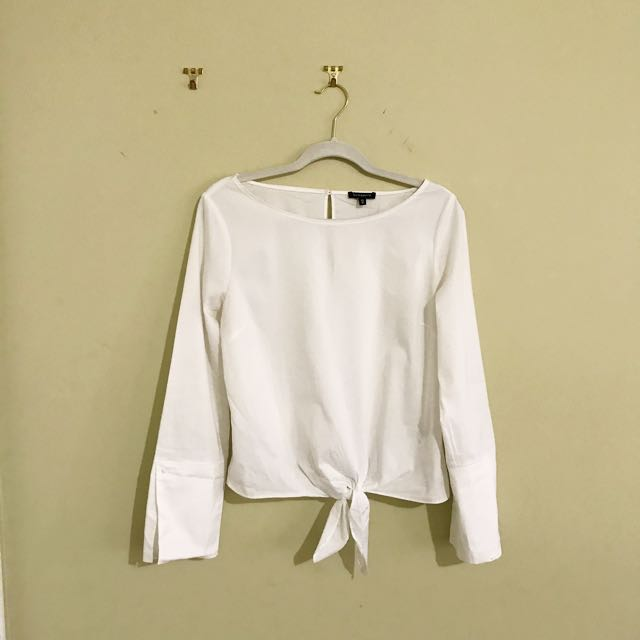 White Dynamite Tie-front Blouse