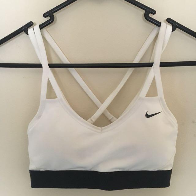 White Nike Sports Bra XS