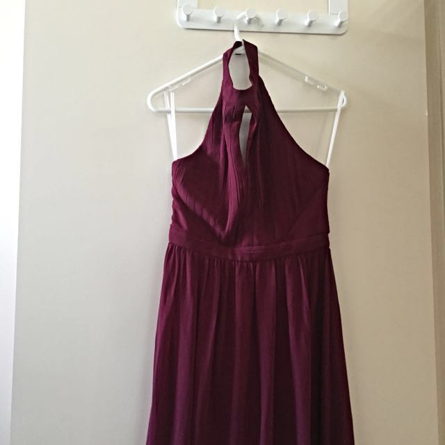 X2 Burgundy Full Length Bridesmaid Dresses