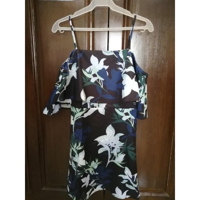 Zalora cold shoulder floral dress