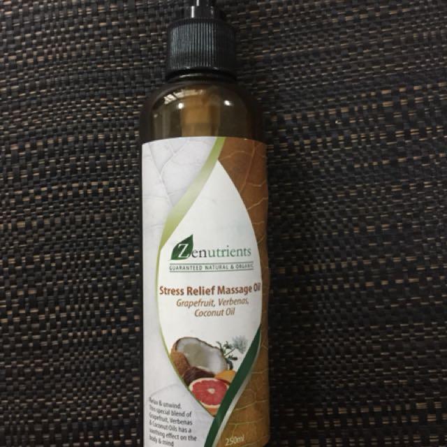 Zen Nutrients Stress Relief Massage Oil