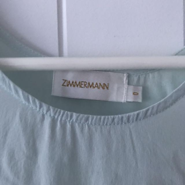 Zimmerman Mint Green Silk Top