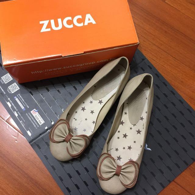 ZUCCA 米白低跟鞋 24-24.5