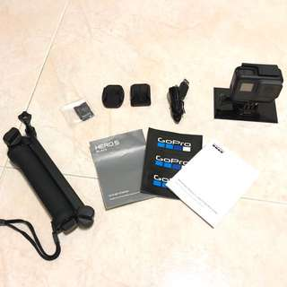 Go Pro Hero 5 Black with Tripod and 64G SD Card