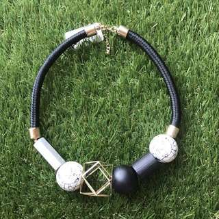 Marble Statement Necklace (last pc)