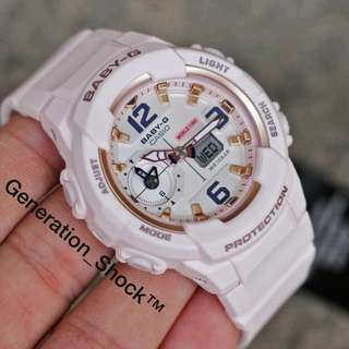 1-Year Official CASIO BABYG Warranty : ORIGINALLY AUTHENTIC NEW ARRIVAL Baby-G shock resistant In Strawberry MilkShakes Baby-Pink 2017 Series Best Surprise Gift Ever For Your Beloved Ones Even For Rough Users Too