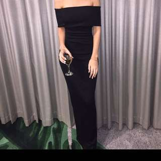 Formal Dress Black Slit