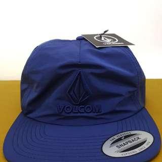 Volcom Surfing Marker Navy Blue Color Mens Nylon Snapback Hat