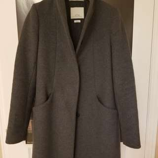 Wilfred Cocoon Coat in Charcoal XS